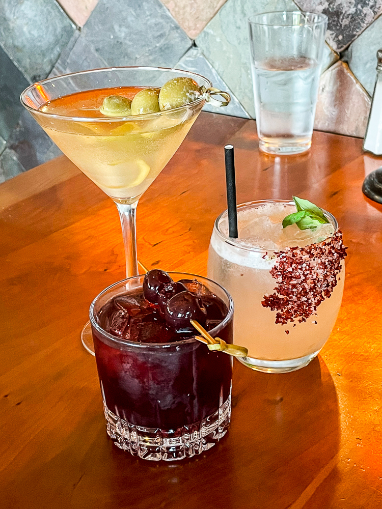 Cocktails at Out of the Fire cafe