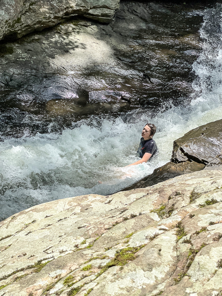 Natural Water Slides in Ohiopyle