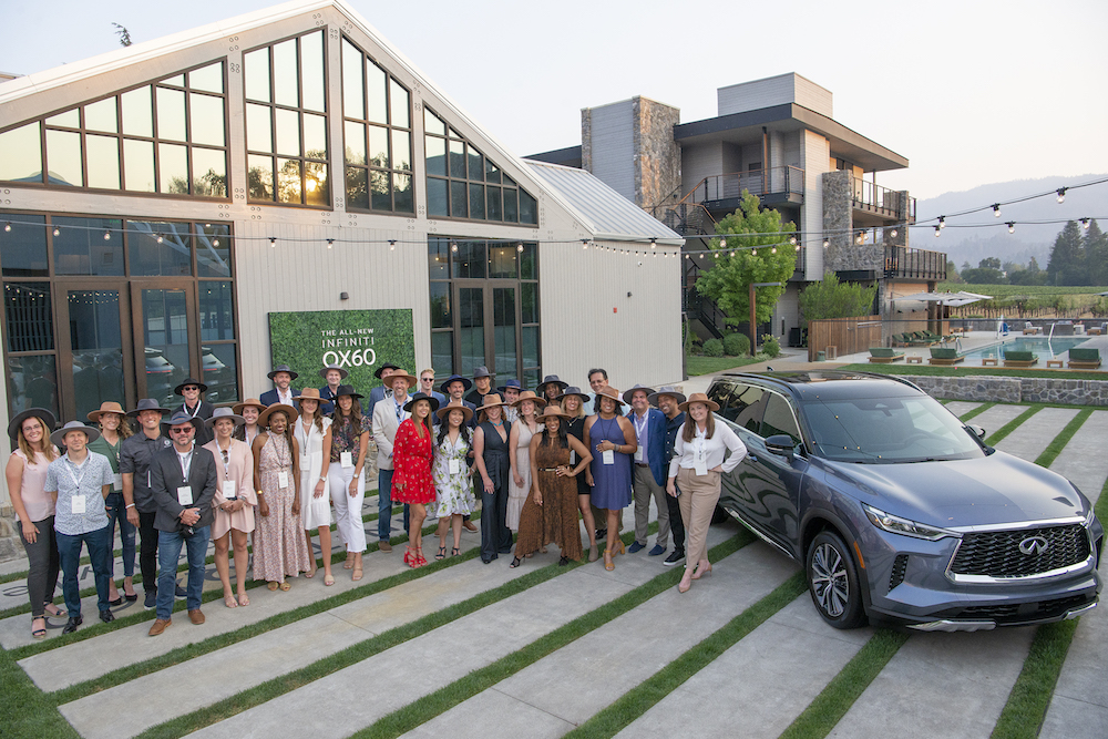 Media wave for the 2022 Infiniti QX60 launch
