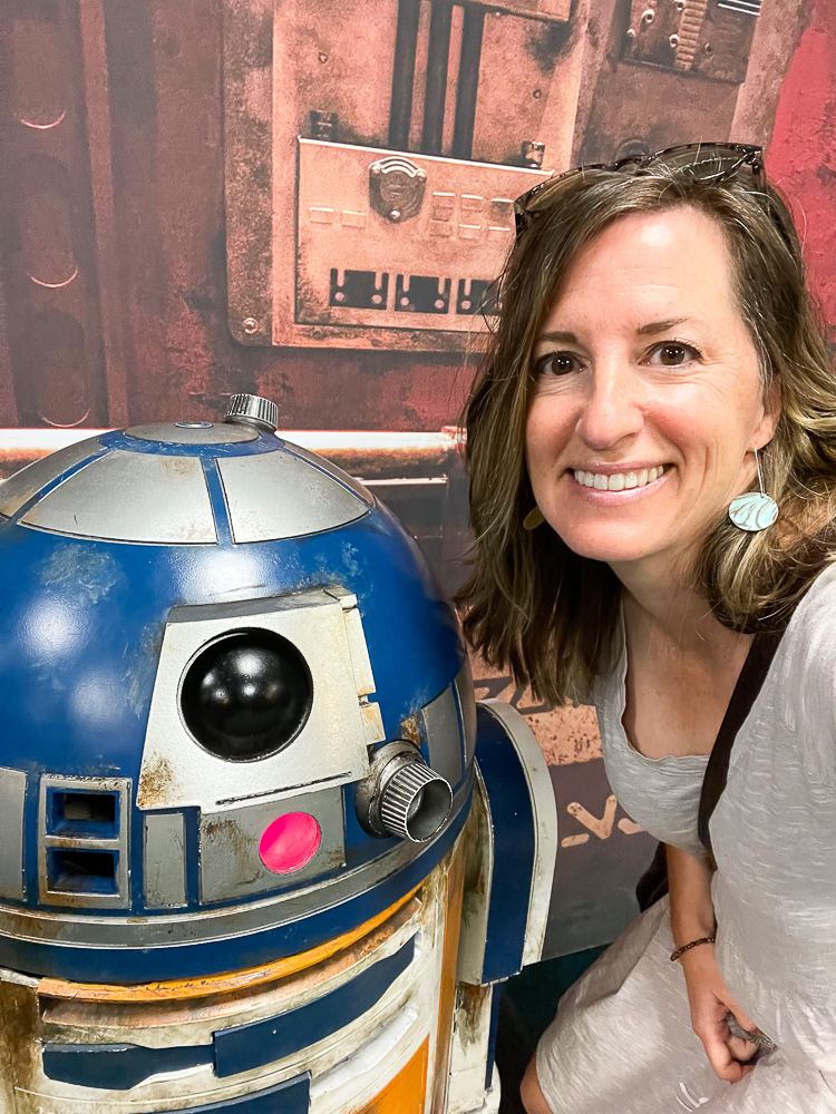Posing with R2D2